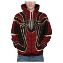 Hot Popular Black and Red Spider 3D Printed Long Sleeve Casual Sport Unisex Hoodie