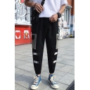 Stylish Colorblocked Velcro Tape Patched Flap Pocket Casual Cargo Pants for Men