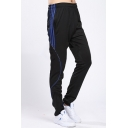 Men's Fashion Popular Contrast Striped Side Elastic Waist Sports Track Pants