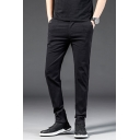 Men's Trendy Classic Simple Plain Slim Fit Business Casual Dress Pants