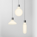 Frosted Glass Flask Pendant Light Nordic Single Light Hanging Lamp for Cafe Bar Restaurant