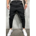 Men's Fashion Simple Plain Slim Fit Casual Dress Pants