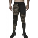 Men's Fashion Cool Camouflage Patched Flap Pocket Drawstring Waist Casual Sports Pencil Pants