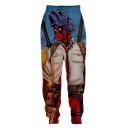 Funny 3D Figure Printed Loose Fit Jogger Pants Sweatpants
