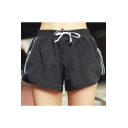 Womnes Training Running Fashion Zipper Side Drawcord Waist Quick Dry Fitness Dolphin Shorts