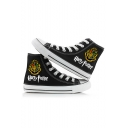 Popular Harry Potter University Logo Print High Top Unisex Canvas Shoes