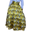 Womens Hot Fashion High Waist Circle Print Maxi Puffy Skirt