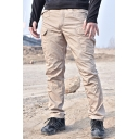 Men's Simple Fashion Solid Color Multi-pocket Tactical Cargo Pants