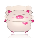 Bedroom Kindergarten Piggy LED Flush Mount Light Acrylic Cartoon Pink Ceiling Light
