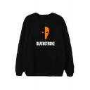 Deathstroke Basic Round Neck Long Sleeve Cotton Loose Pullover Sweatshirt