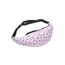 New Trendy Flamingo Printed Pink Fanny Pack Fashion Waist Bag 50 CM