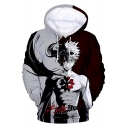 Black Clover Comic Figure 3D Printed Grey and Red Pullover Sport Hoodie