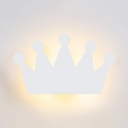 Cute Cartoon Crown Wall Lamp Metal LED Sconce Light with Warm Lighting for Child Bedside