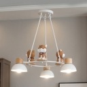 Gray/Orange Doddy Pendant Light 3/6 Lights Nordic Stylish Resin Chandelier for Study Room