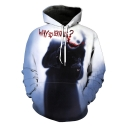 Popular Clown Joker WHY SO SERIOUS Print Long Sleeve Unisex Pullover Hoodie
