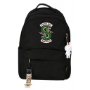 Popular South Side Snake Logo Printed Students School Bag Backpack with Pendant 29*14*41cm