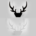 Nordic Antler Shaped LED Wall Lamp Metal Black/White Wall Light for Bedroom Living Room
