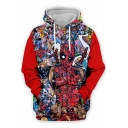 Funny Creative Comic Figure 3D Print Loose Casual Pullover Hoodie