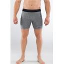 Men's Summer Fashion Letter Logo Printed Grey Cotton Skinny Athletic Shorts