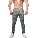 Men's Trendy New Fashion Camouflage Printed Drawstring Waist Casual Sports Sweatpants Pencil Pants