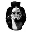 Popular Star Wars Darth Vader 3D Figure Printed Long Sleeve Black Hoodie