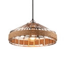 Rustic Stylish Barn Hanging Light Iron Rope Beige Pendant Light for Kitchen Dining Room
