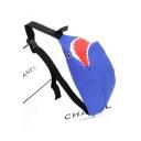 Fashion Cartoon Shark Shape Crossbody Chest Bag Belt Bag 38*15*12 CM