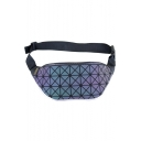 Hot Fashion Geometric Luminous Pattern Laser Fanny Pack Belt Bag 35*14 CM