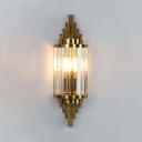 Traditional Candle Wall Light Metal & Striking Crystal Wall Lamp in Gold for Corridor Stair