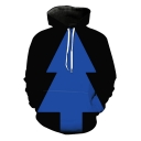 Fashion Simple Arrow Sign 3D Printed Casual Loose Black Pullover Hoodie