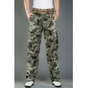Men's Popular Fashion Cool Camouflage Printed Multi-pocket Military Cargo Pants