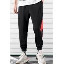 Men's New Fashion Colorblock Lighting Pattern Casual Relaxed Sweatpants