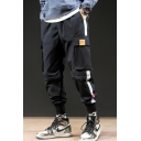 New Fashion Colorblock Patched Side Large Flap Pocket Men's Trendy Detachable Casual Cargo Pants