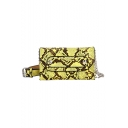 New Fashion Snakeskin Pattern Rivet Belt Embellishment Crossbody Waist Purse 18*11*2 CM