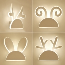 Modern Style Animal Horn Wall Light Acrylic LED Sconce Light in Warm/White for Child Bedroom