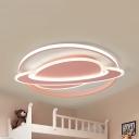 Acrylic Planet LED Ceiling Mount Light Creative Warm/White Lighting Flush Light in Black/Blue/Pink/White for Kindergarten