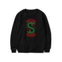 Popular South Side Snake Logo Printed Crewneck Long Sleeve Pullover Sweatshirt