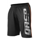 Men's Summer Fashion Letter Printed Drawstring Waist Quick-drying Comfortable Casual Athletic Shorts