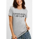All My Friends Are Bread Funny Letter Print Cotton Loose Graphic Tee