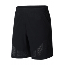 Men's Summer New Fashion Mesh Holes Simple Plain Elastic Waist Casual Loose Sports Basketball Shorts
