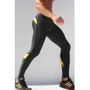 Men's Fashion Colorblock Printed Fitness Bodybuilding Pants