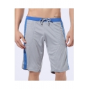 Men's Summer Fashion Colorblock Drawstring Waist Casual Comfortable Sweat Shorts