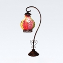 Small Stone Gourd Desk Light 1 Bulb Moroccan Turkish Multi-Color Table Light for Hotel Bedroom