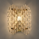 Rotatable 1 Light Dot Wall Light Modern Stylish Clear Crystal Sconce Lamp in Gold for Bedroom