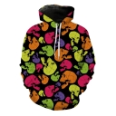 New Stylish Cool Colorful Skull Printed Long Sleeve Loose Sport Hoodie