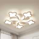 Acrylic Cloud LED Ceiling Mount Light Stair Kitchen 3/5/8 Heads Ceiling Fixture in Warm/White