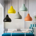Nordic Style Urn Shaped Hanging Light Metal Shade 1 light Mini Pendant Lamp in Multi Colors
