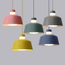 Macaron Tapered Shade Hanging Lamp Metal 1 Light Mini Pendant Lighting in Multi Colors