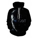 Night King GOT Cool 3D Figure Print Long Sleeve Black Sport Hoodie
