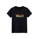 CHANGES DREAM OF SKY Letter Short Sleeve Fitted Cotton Tee